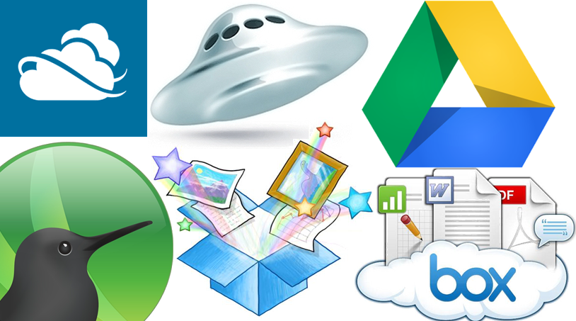 Яндекс.Диск, Dropbox, Google.Drive, SkyDrive, SugarSync, Box